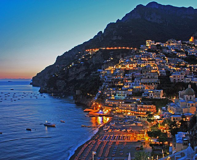 sunset positano